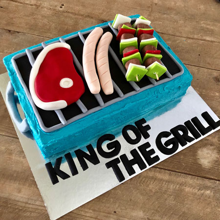 BBQ fathers day king of the grill cake DIY kit from Cake 2 The Rescue