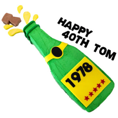 champagne bottle birthday boy 18th, 21st, 40th birthday cake DIY kit from Cake 2 The Rescue