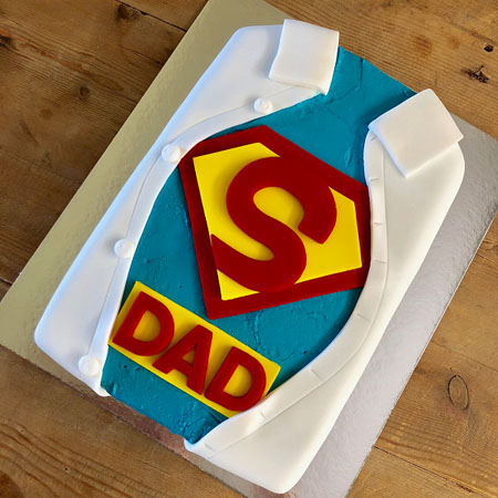 superdad and best dady and best poppy Father's Day cake DIY cake kit from Cake 2 The Rescue
