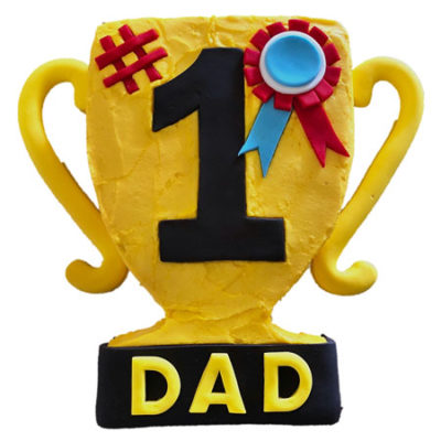 trophy Father's Day cake DIY cake kit from Cake 2 The Rescue