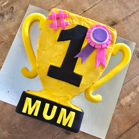 trophy Mother's Day best mum birthday cake DIY cake kit from Cake 2 The Rescue
