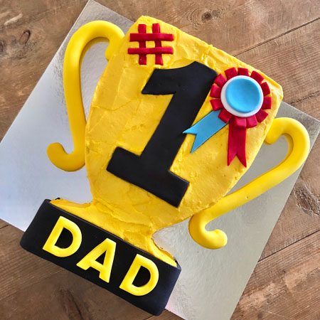 trophy number one dad cake DIY cake kit from Cake 2 The Rescue