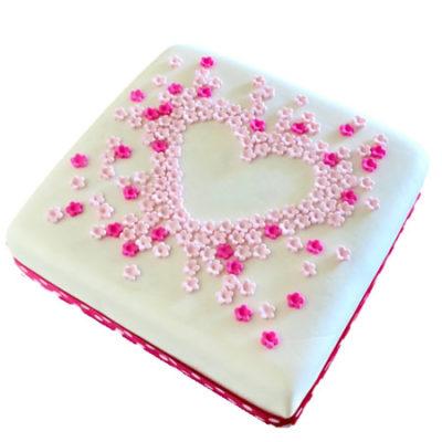 love heart flower baby shower birthday cake DIY kit from Cake 2 The Rescue