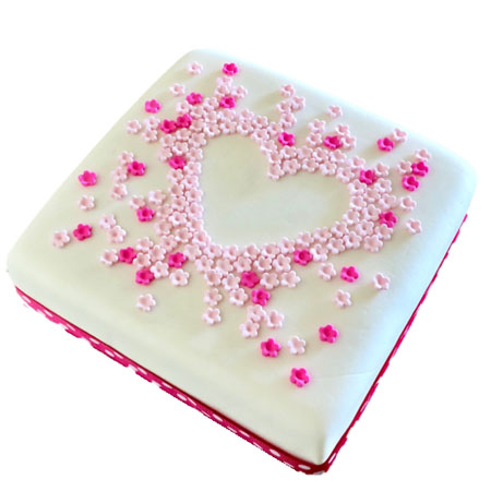 love heart flower baby shower birthday cake DIY kit from Cake 2 The Rescue