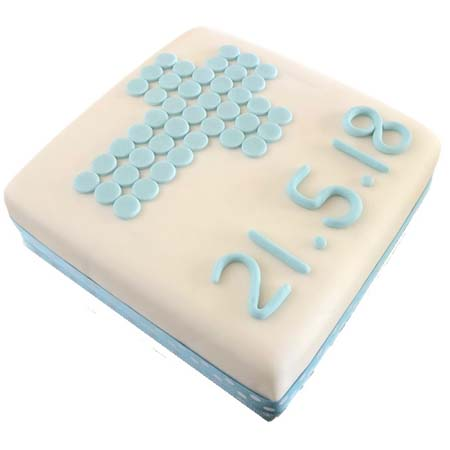 traditional cross christening cake boy DIY kit from Cake 2 The Rescue