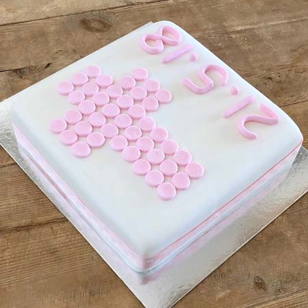 traditional cross christening cake for a girl DIY kit from Cake 2 The Rescue