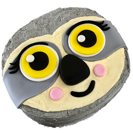 baby sloth first birthday girl cake DIY kit from Cake 2 The Rescue