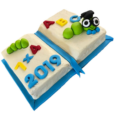 Bookworm end of schol year cake DIY kit from Cake 2 The Rescue