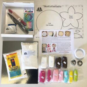 Dream catcher cake kit contents from Cake 2 The Rescue