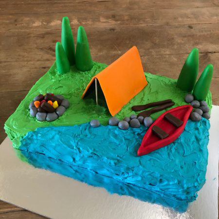 Father's Day cake for Dad's that love camping DIY kit from Cake 2 The Rescue