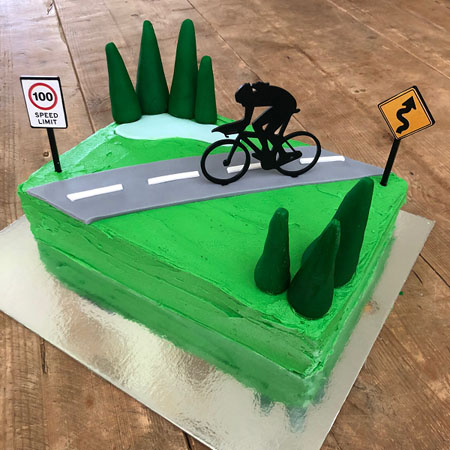 cycling 40th or 50th girls birthday cake DIY kit from Cake 2 The Rescue