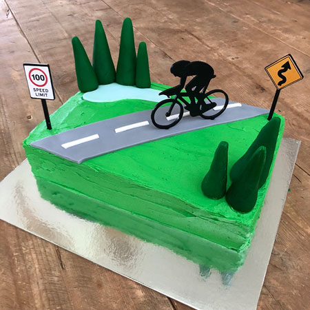 cycling road bike Father's Day cake DIY kit from Cake 2 The Rescue