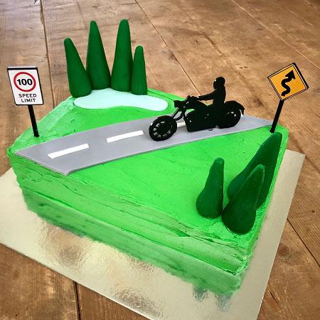 motorbike cruiser bike Father's Day cake DIY cake kit from Cake 2 The Rescue