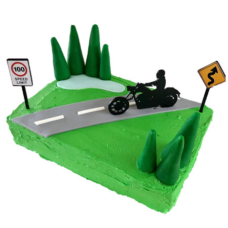 motorbike cruiser bike kids birthday cake DIY cake kit from Cake 2 The Rescue
