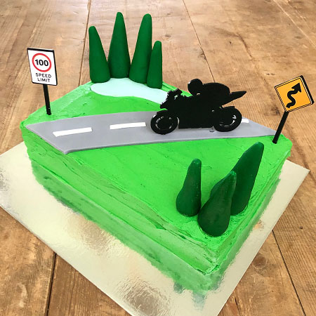 motorcycle sports bike birthday cake for dad DIY cake kit from Cake 2 The Rescue