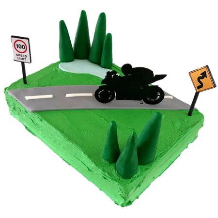 motorcycle sports bike kids birthday cake DIY cake kit from Cake 2 The Rescue