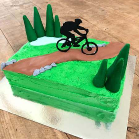 Phenomenal Mountain Bike Track Cake Kit Easy Mountain Bike Cake Funny Birthday Cards Online Overcheapnameinfo
