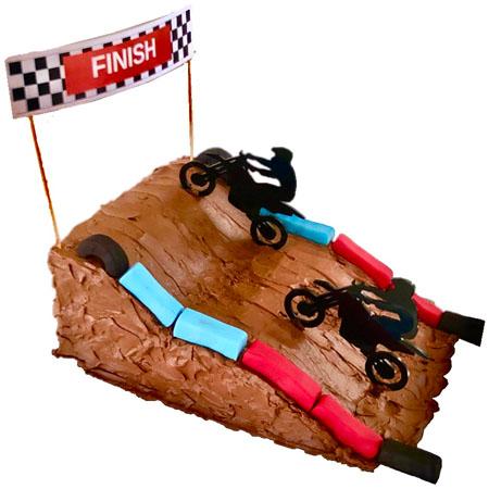 dirt bike teens birthday DIY cake kit from Cake 2 The Rescue