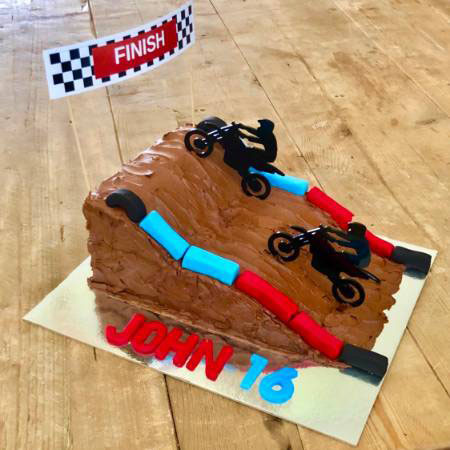 motorcross cake dad's birthday or Father's Day cake DIY kit from Cake 2 The Rescue