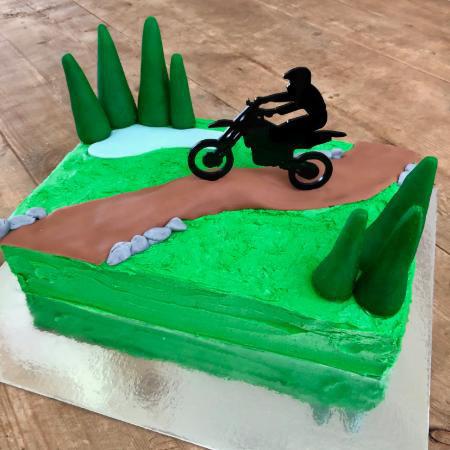 Terrific Diy Dirt Bike Track Cake Kit Teen Birthday Cake Idea Birthday Cards Printable Trancafe Filternl