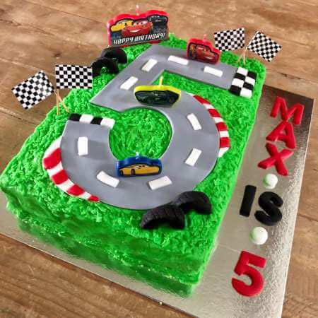 Super Diy Race Track First Birthday Cake Kit Cake 2 The Rescue Funny Birthday Cards Online Alyptdamsfinfo