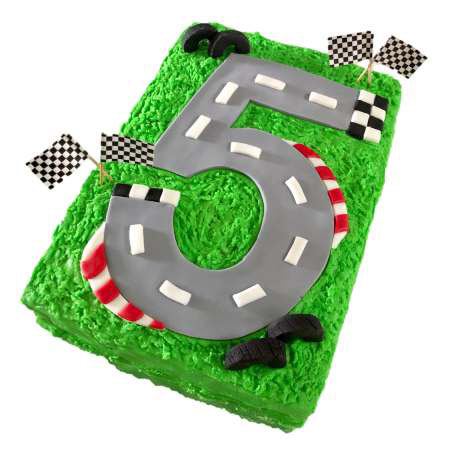 race track first birthday cake DIY kit from Cake 2 The Rescue
