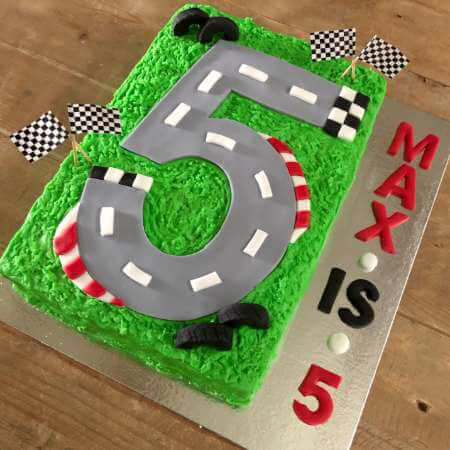 Race track and Lightening McQueen birthday DIY cake kit Race track birthday cake DIY kit from Cake 2 The Rescue