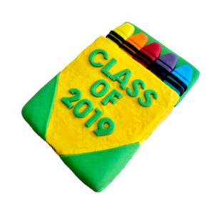 Crayon end of school year cake DIY kit from Cake 2 The Rescue
