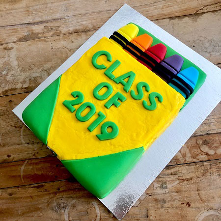 Crayon kindy graduation cake DIY kit from Cake 2 The Rescue