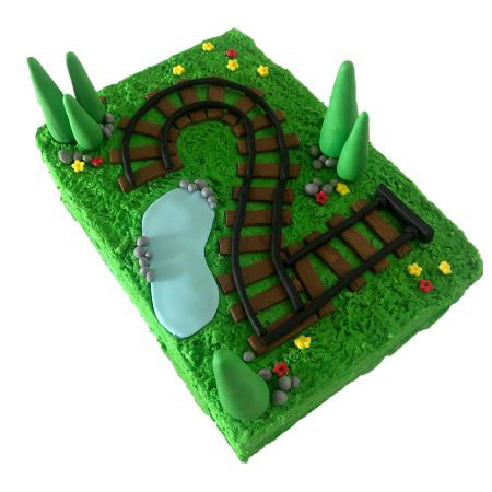 Train track birthday cake DIY kit from Cake 2 The Rescue