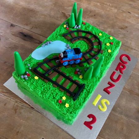 Train track Thomas birthday DIY cake kit from Cake 2 The Rescue