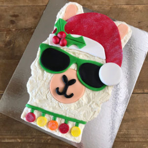 Easy funky Llama Christmas cake kit from Cake 2 The Rescue