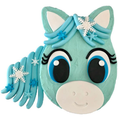 snowflake pony Frozen inspired first birthday cake DIY kit from Cake 2 The Rescue