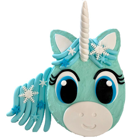 snowflake unicorn frozen themed first birthday cake DIY kit from Cake 2 The Rescue