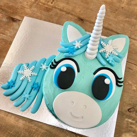 snowflake unicorn winter wonderland baby shower DIY cake kit from Cake 2 The Rescue