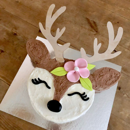 baby deer woodland birthday party cake kit from Cake 2 The Rescue