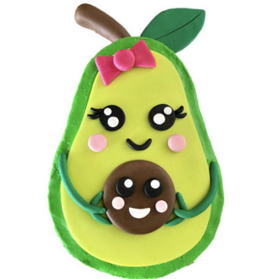cute avocado baby shower gender reveal cake DIY kit from Cake 2 The Rescue