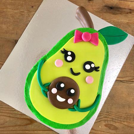 Superb Cute Avocado Baby Shower Gender Reveal Cake Kit Cake 2 The Rescue Funny Birthday Cards Online Hendilapandamsfinfo
