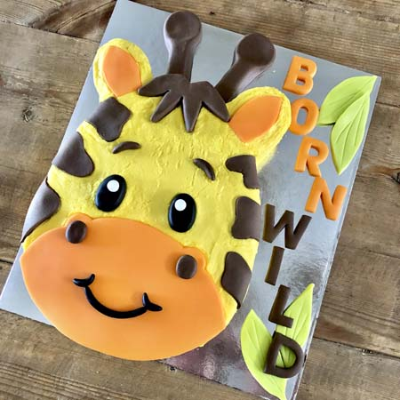 baby giraffe baby shower boy DIY cake kit from Cake 2 The Rescue