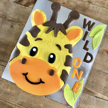 baby giraffe baby shower wild one party DIY cake kit from Cake 2 The Rescue