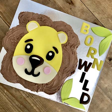 baby lion first birthday boy cake kit from Cake 2 The Rescue