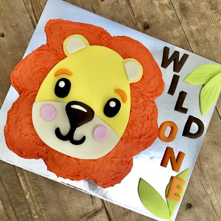 Incredible Best First Birthday Baby Lion Cake Kit Cake 2 The Rescue Personalised Birthday Cards Veneteletsinfo
