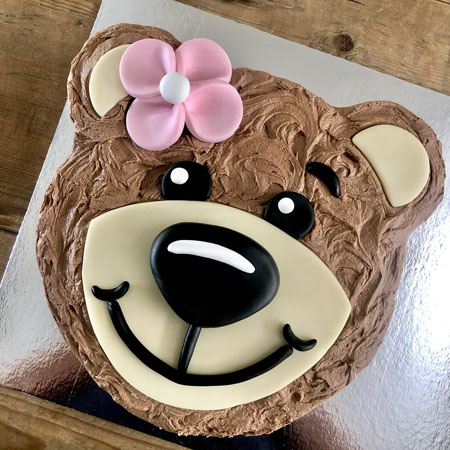teddy bear baby shower girl DIY cake kit from Cake 2 The Rescue