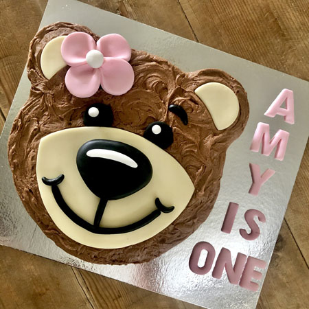 teddy bear first birthday girl DIY cake kit from Cake 2 The Rescue