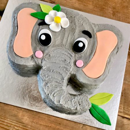baby jungle elephant first birthday DIY cake kit from Cake 2 The Rescue