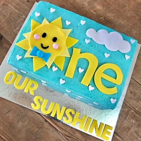 boys first birthday cake you are my sunshine from Cake 2 The Rescue