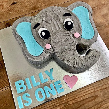 Brilliant Cute Baby Elephant Diy Cake Kit First Birthday Baby Shower Funny Birthday Cards Online Inifofree Goldxyz