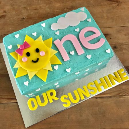 girls first birthday cake you are my sunshine from Cake 2 The Rescue