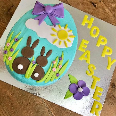 twin bunny baby shower cake DIY cake kit from Cake 2 The Rescue