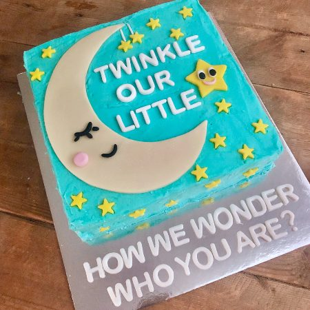 twinkle little star baby shower reveal DIY cake kit from Cake 2 The Rescue